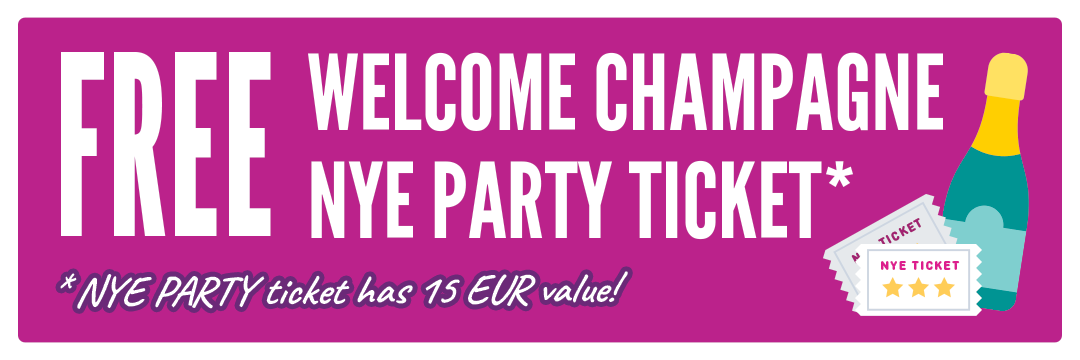 Free Welcome Champagne Banner